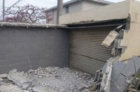 水戸市コンクリートブロックのガレージ解体|ランドサービス