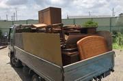 笠間市にて不用品家具回収処分の様子|ランドサービス