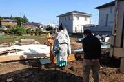 水戸市元吉田にて住宅解体と整地の様子|ランドサービス株式会社