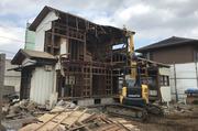 つくば市台町にて木造住宅解体工事の様子 LS
