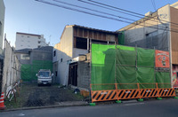 水戸市南町にて店舗兼住宅解体工事の様子 LS