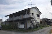 ひたちなか市田彦にて木造アパート解体工事の風景 LS