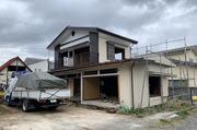 水戸市赤塚にて2階建住宅解体の様子 LS