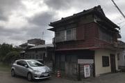 石岡市府中にて木造住宅解体工事の様子 LS