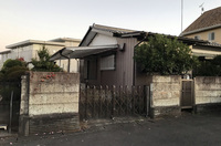 水戸市河和田町にて木造住宅解体の様子 LS